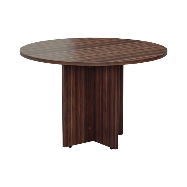 Jemini Walnut Round D1200 Meeting Table