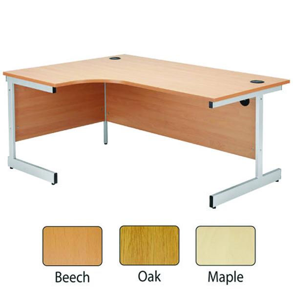 Image for Jemini Beech/Silver 1200mm Left Hand Radial Cantilever Desk