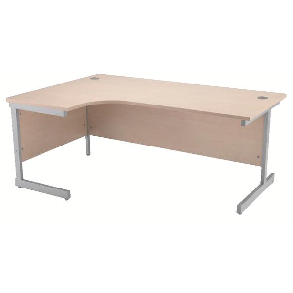Image for Jemini Maple/Silver 1600mm Left Hand Radial Cantilever Desk