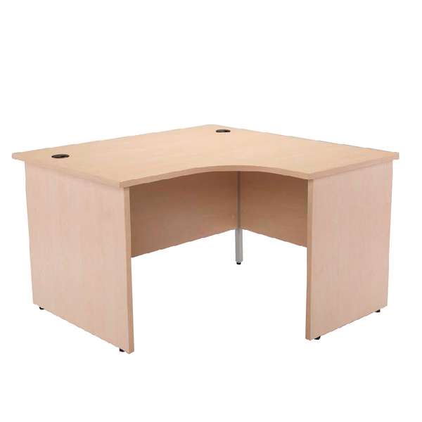 Jemini Maple Right Hand Panel End Radial Desk 1200mm