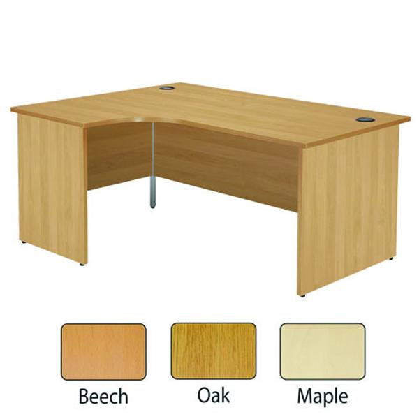 Image for Jemini Beech Left Hand Panel End Radial Desk 1600mm