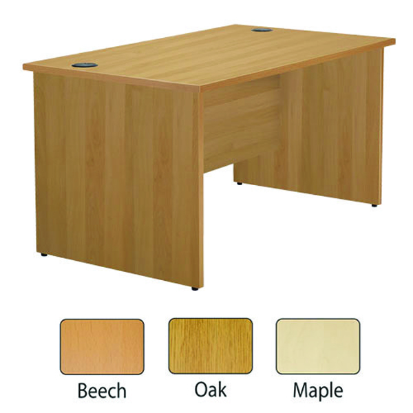 Image for Jemini Maple 1200mm Panel End Rectangular Desk KF838086 (0)