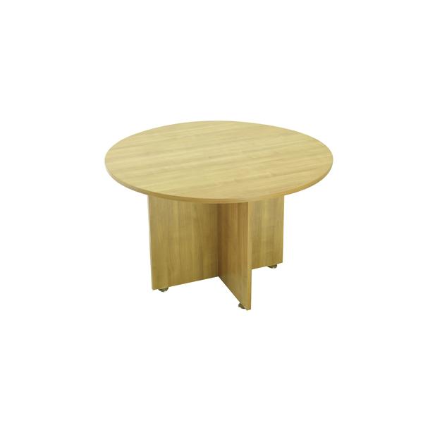 Avior Ash 1200mm Round Meeting Table Ash (Dimensions: H750mm x Diameter: 1200mm) KF838268