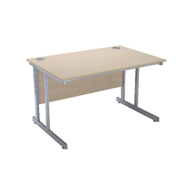 Serrion Warm Maple 1200mm Rectangular Cantilever Desk
