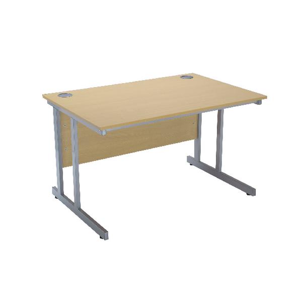 Serrion Ferrera Oak 1500mm Rectangular Cantilever Desk