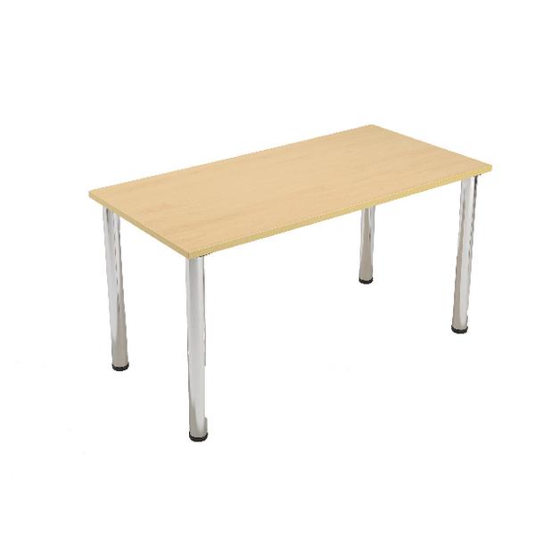 Serrion Bavarian Beech Rectangular Meeting Room Table Standard Leg