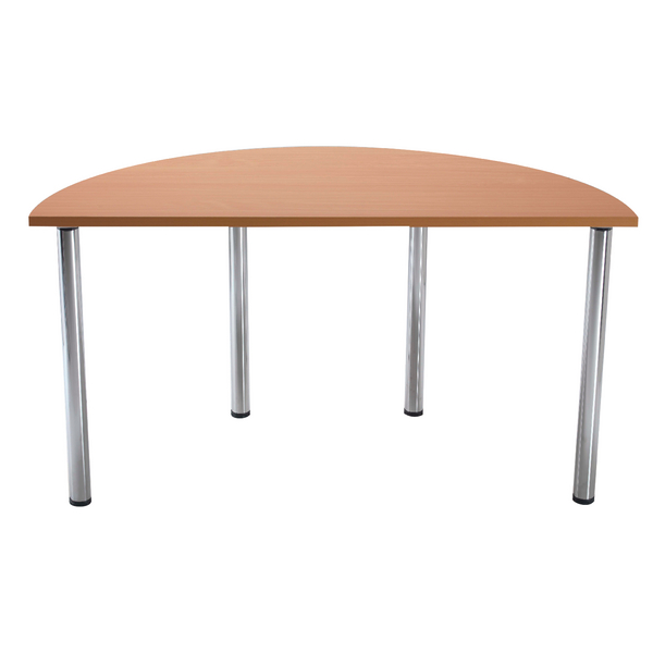 Serrion Bavarian Beech Semi-Circular Meeting Room Table Standard Leg