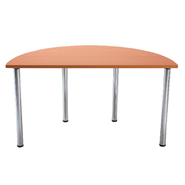 Serrion Bavarian Beech Semi-Circular Meeting Room Table Folding Leg