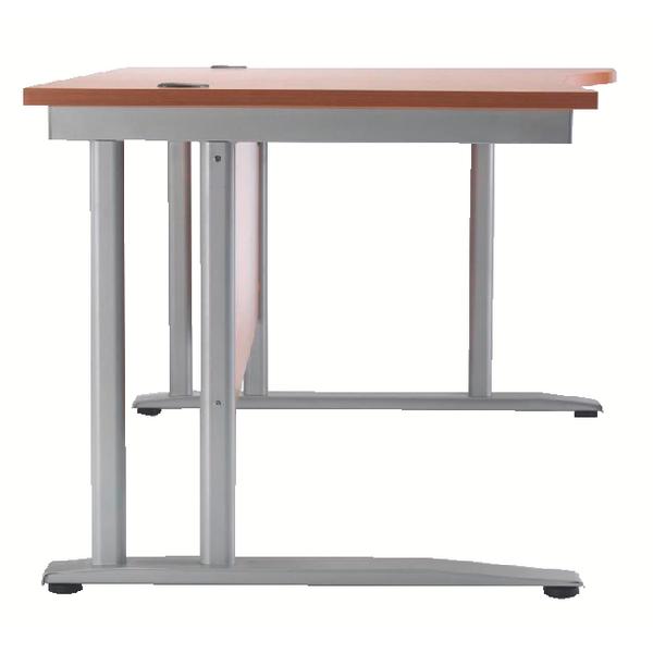 Arista 1600mm Right Hand Beech Wave Desk