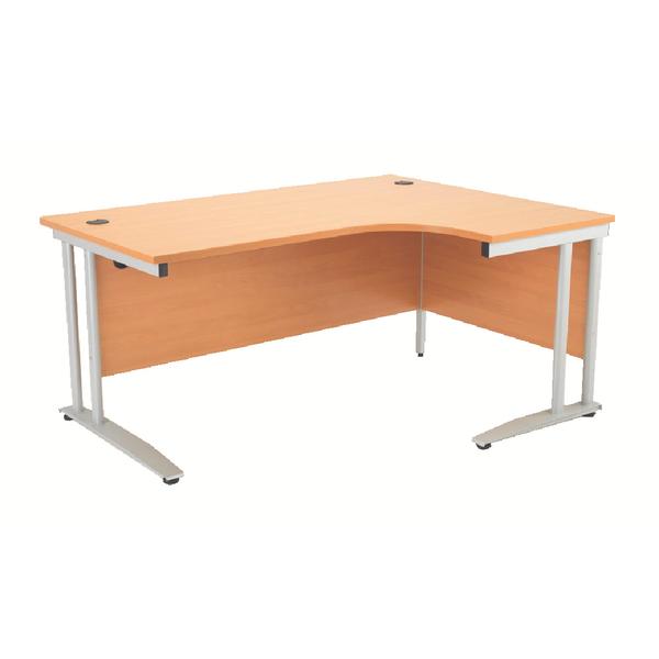 Arista 1600mm Right Hand Beech Radial Desk