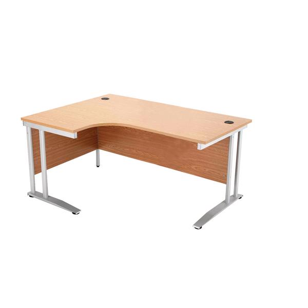 Arista 1600mm Right Hand Maple Radial Desk