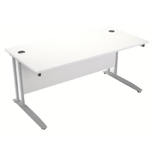 Image for Arista 1200mm Rectangular Desk White