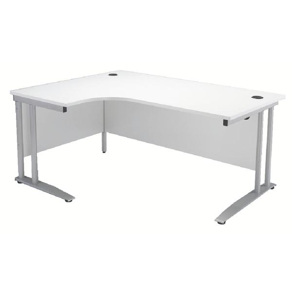 Arista 1800mm Left Hand White Radial Desk