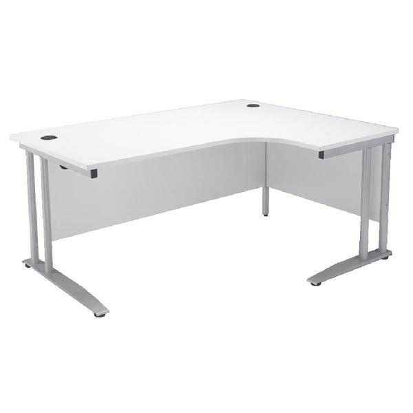 Arista 1800mm Right Hand White Radial Desk