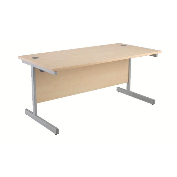 Jemini Maple/Silver 1400mm Rectangular Cantilever Desk