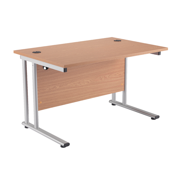 Image for First Rectangular Cantilever Desk 1200mm Oak