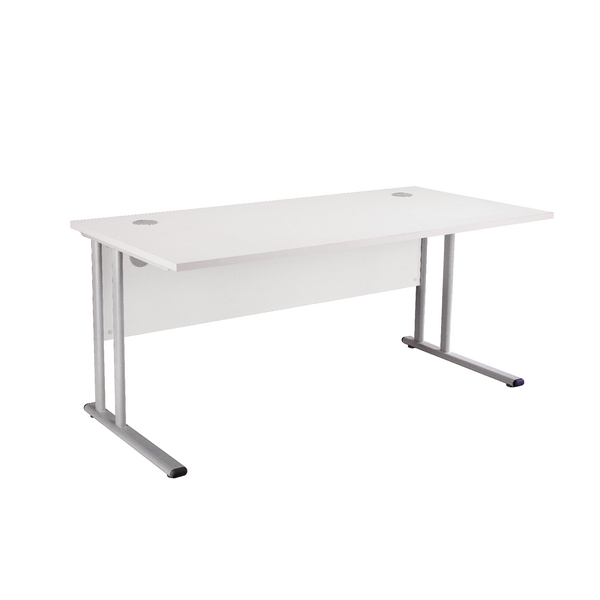 Image for First Rectangular Cantilever Desk 1200mm White KF898929