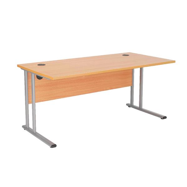 First Rectangular Cantilever Desk 1800mm Beech
