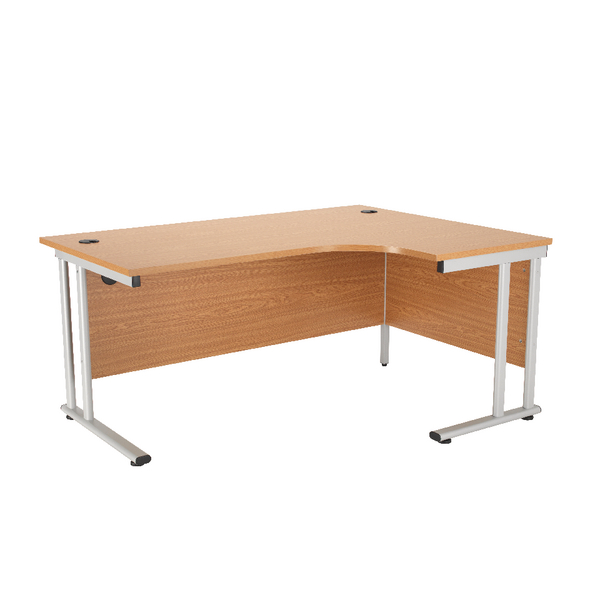 First Radial Right Hand Cantilever Desk 1800mm Oak