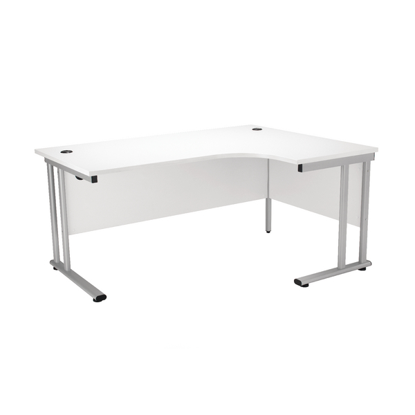 First Radial Right Hand Cantilever Desk 1800mm White