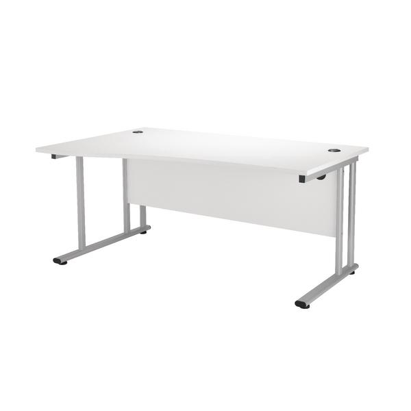 First Wave Left Hand Cantilever Desk 1600mm Beech