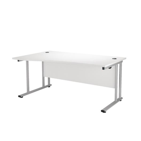 First Wave Left Hand Cantilever Desk 1600mm Oak