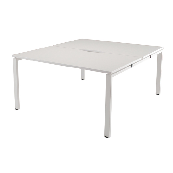 Arista White 1400mm 2 Person Bench System