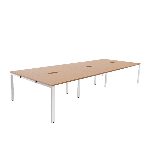 Image for Arista 1200mm 6 Person Bench System Oak