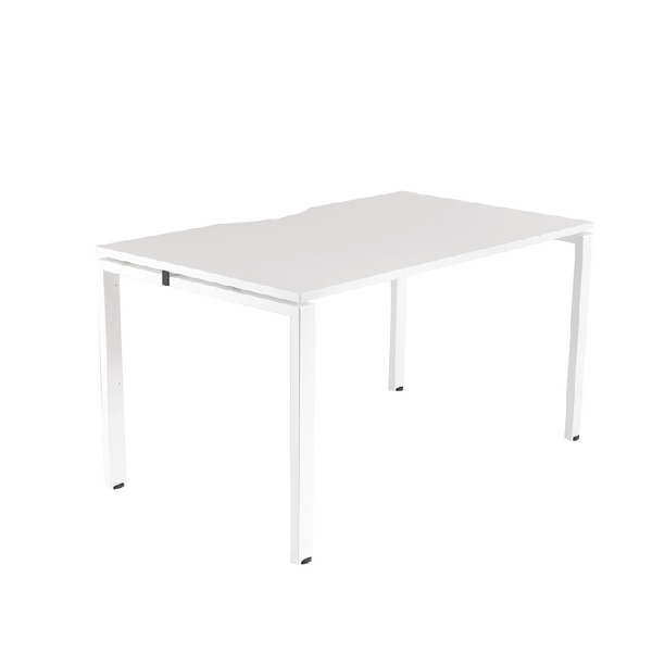 Arista White 1200x800mm Bench 1 Person System