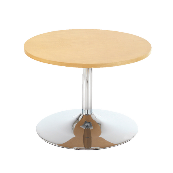 Image for First Bistro Table Trumpet Base 800mm Diameter Low Beech