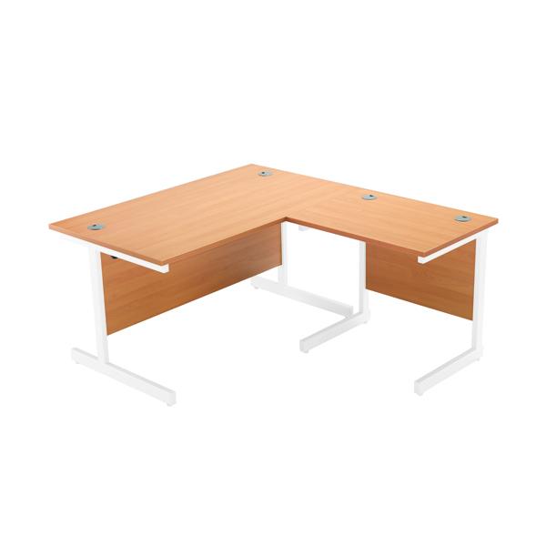 Jemini Oak/White 800mm Return Cantilever Desk