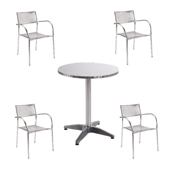 Image for Arista Aluminium Bistro Table and Chairs Bundle