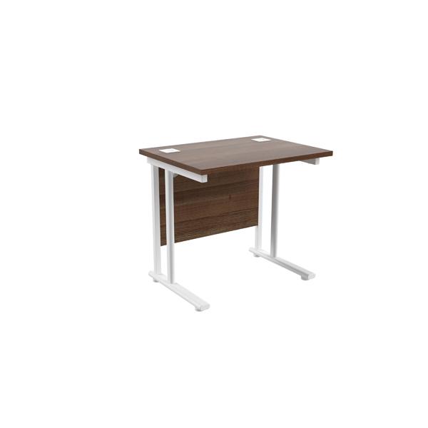 Jemini Walnut/White 800mm Rectangular Desk
