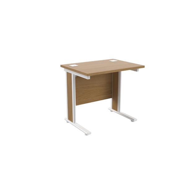 Jemini Oak/White 800mm Rectangular Desk