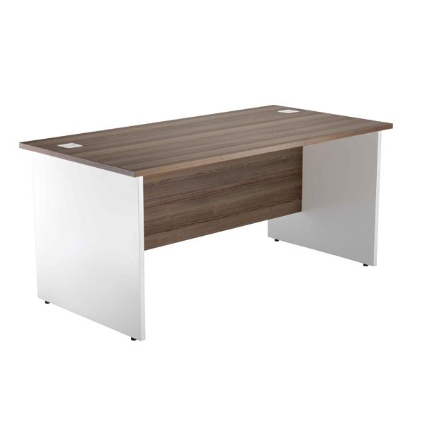 Jemini Switch Walnut/White 1800mm Panel End Rectangular Desk KF839556