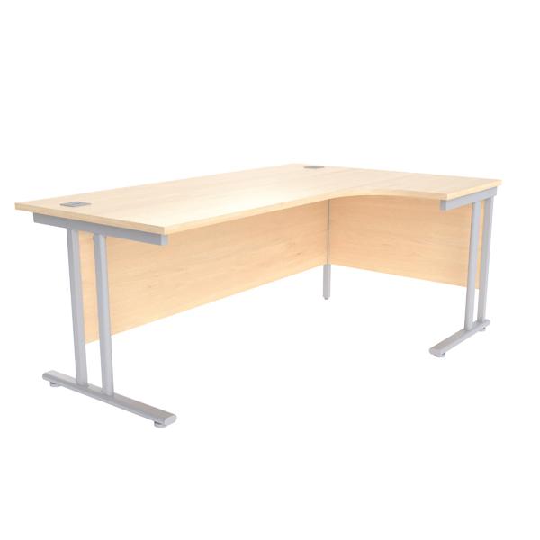 Jemini Maple/Silver 1800mm Right Hand Radial Cantilever Desk