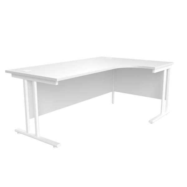 Jemini White/White 1800mm Right Hand Radial Cantilever Desk
