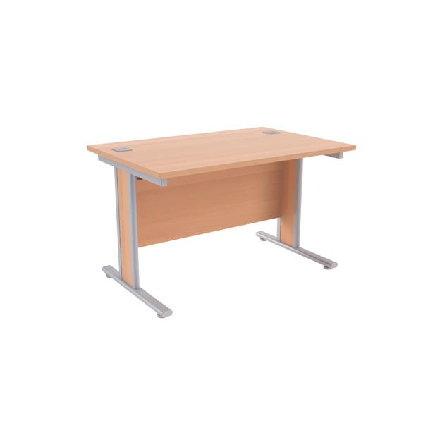 Jemini Beech/Silver 1200x800mm Rectangular Desk