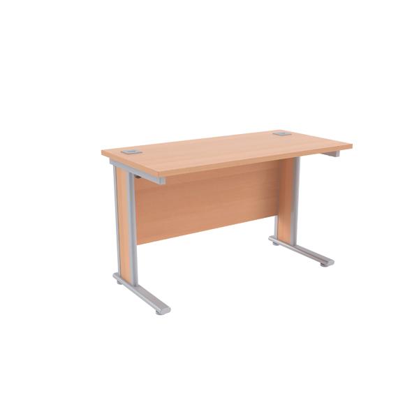 Jemini Beech/Silver 1200x600mm Rectangular Desk