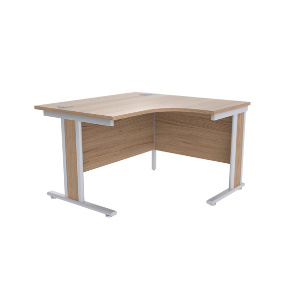 Jemini Grey Oak/Silver 1200mm Right Hand Radial Desk