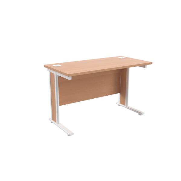 Jemini Beech/White 1200x600mm Rectangular Cantilever Desk