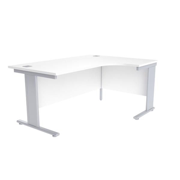 Jemini White 1600mm Right Hand Radial Cantilever Desk
