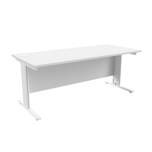 Jemini White/White 1800 x 800mm Cantilever Rectangular Desk