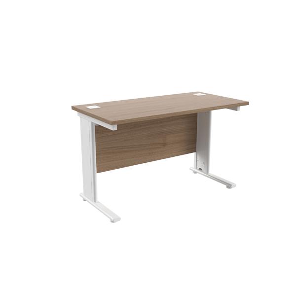 Jemini Grey Oak/White 1200 x 600mm Cantilever Rectangular Desk