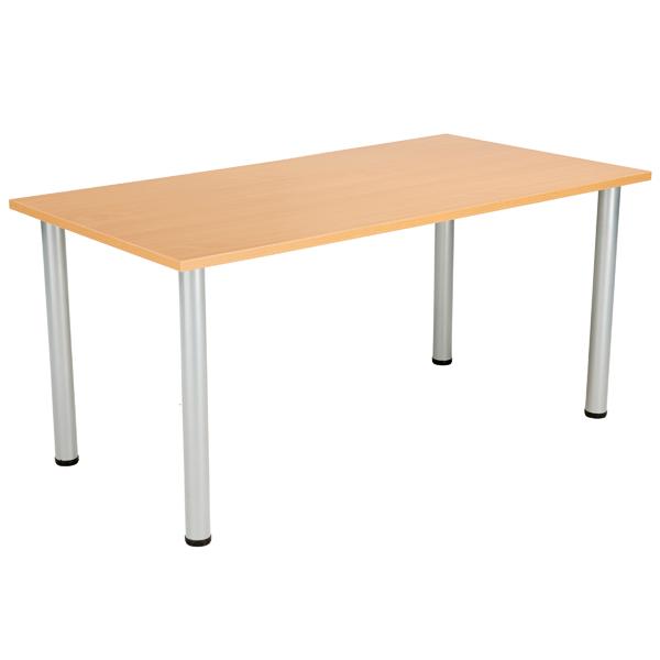 Jemini Beech 1200x800mm Rectangular Meeting Table