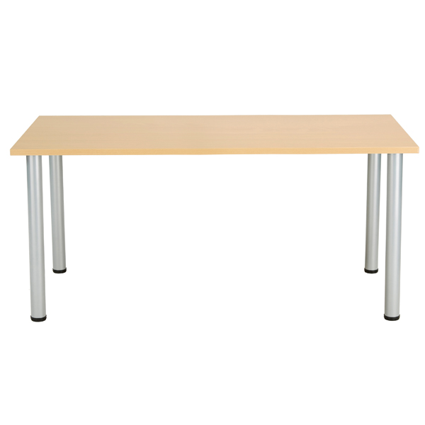 Jemini Oak 1200x800mm Rectangular Meeting Table