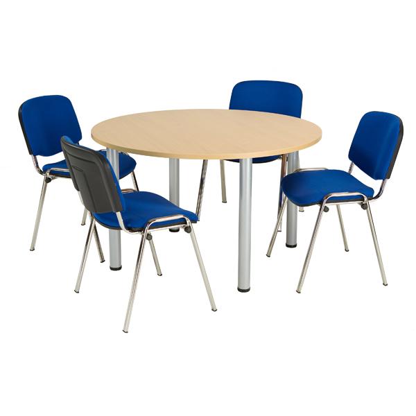 Jemini Oak 1200mm Circular Meeting Table