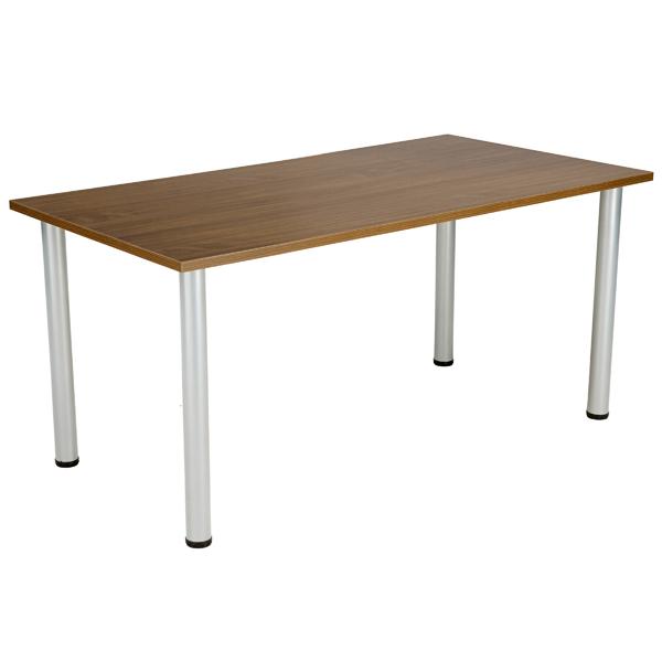 Jemini Walnut 1200x800mm Rectangular Meeting Table