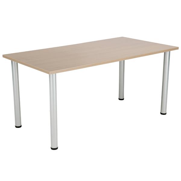 Jemini Grey Oak 1200x800mm Rectangular Meeting Table