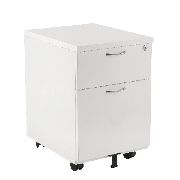 First Mobile Under Desk Pedestal 2 Drawer White